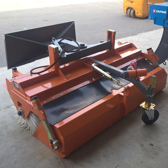Veegmachine met opvangbak